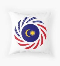 Malaysian American Multinational Patriot Flag Series Throw Pillow