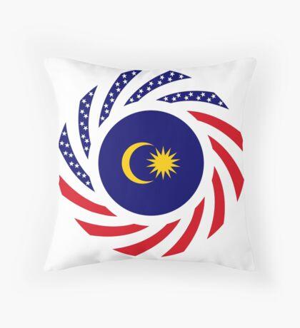 Malaysian American Multinational Patriot Flag Series Floor Pillow