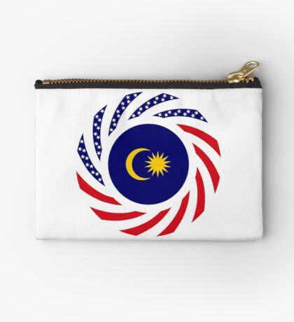 Malaysian American Multinational Patriot Flag Series Zipper Pouch