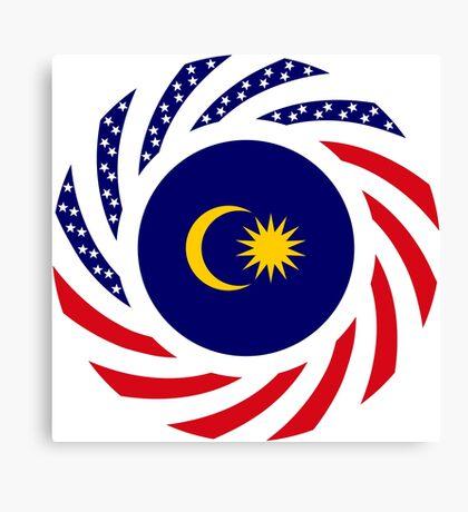 Malaysian American Multinational Patriot Flag Series Canvas Print