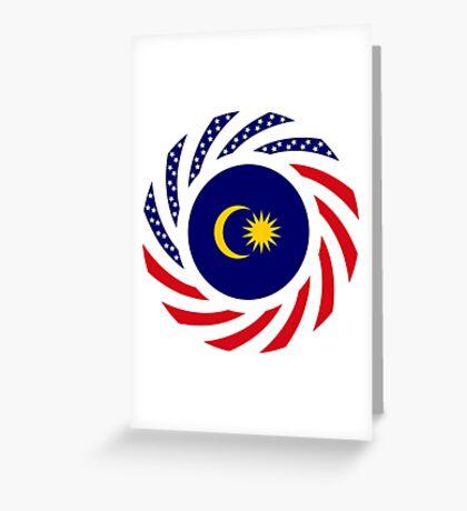 Malaysian American Multinational Patriot Flag Series Greeting Card