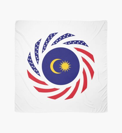 Malaysian American Multinational Patriot Flag Series Scarf