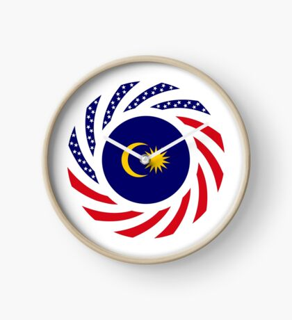 Malaysian American Multinational Patriot Flag Series Clock