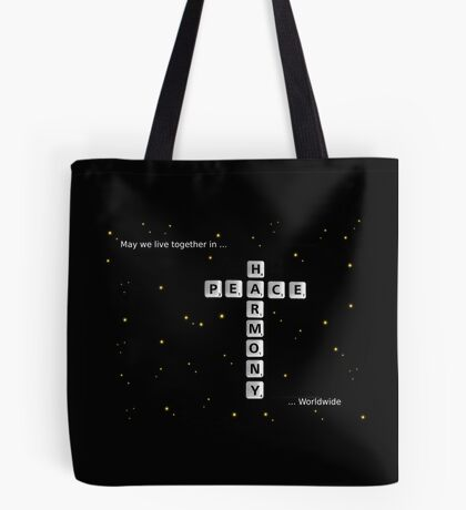 SOLD - PEACE AND HARMONY Tote Bag