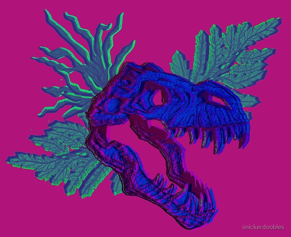 T-Rex Skull by snickerdoobles
