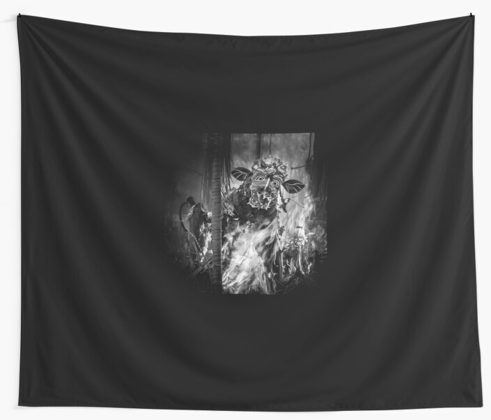 Bali Cremation Bull - Wall Tapestry by Glen Allison