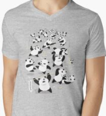 PANDAMONIUM Men's V-Neck T-Shirt