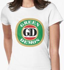Green Demon VB Women's Fitted T-Shirt