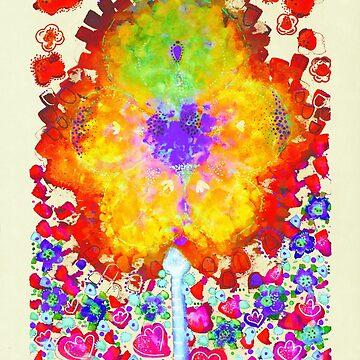 Funky Neon Flower Garden by SarPappas