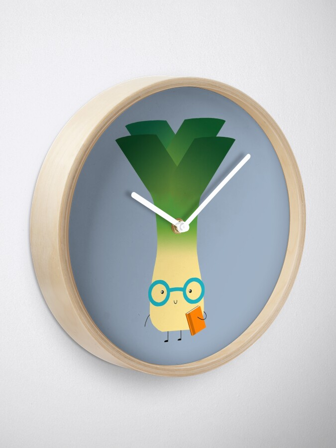Alternate view of geek leek Clock