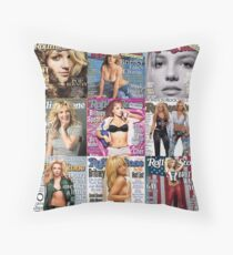 britney ROLLING stone Throw Pillow