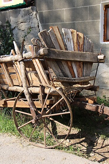A Horse Drawn Cart Still In Everyday Use in Bahna, Romania by Dennis Melling