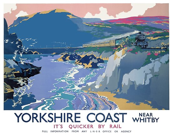 Yorkshire Coast Near Whitby It's Quicker By Rail by vintagetravel
