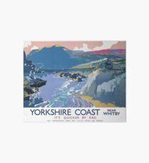 Yorkshire Coast Near Whitby It's Quicker By Rail Art Board