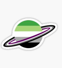 Pegatina Aromantic / Asexual Pride Planet