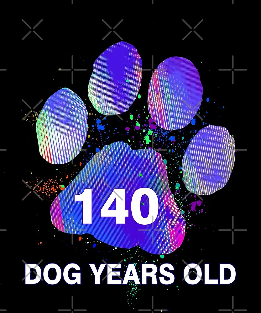 Awesome 140 Dog Years Old Funny 20th Birthday Gift by SpecialtyGifts