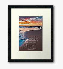 Apache Wedding Blessing Ocean Framed Print