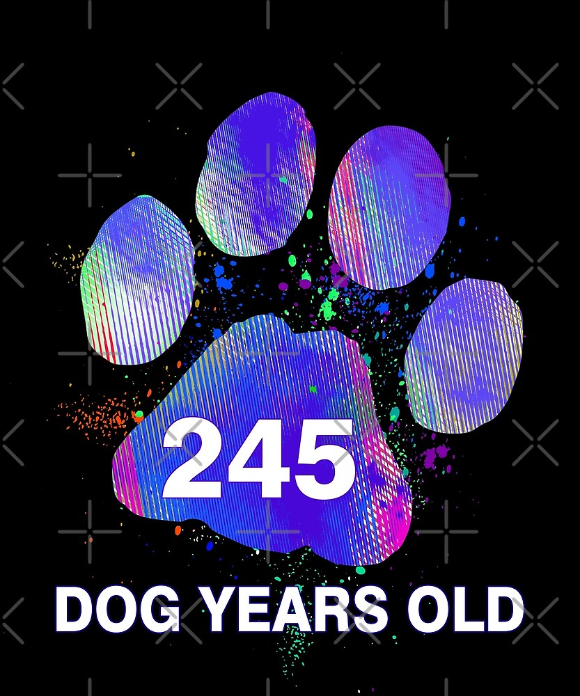Awesome 245 Dog Years Old Funny 35th Birthday Gift by SpecialtyGifts