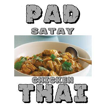 Pad Thai Satay Chicken by ScrimpyDeluxe