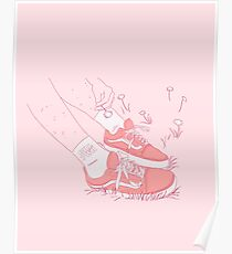 GRL PWR sneakers and socks Poster