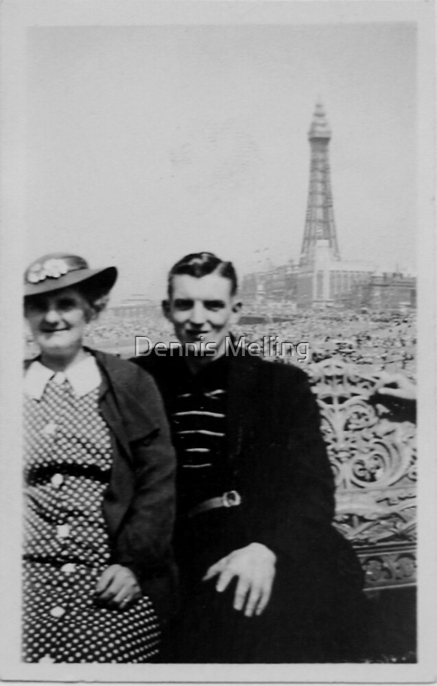 Dad & His Mum late 1930s by Dennis Melling