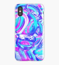 abstract colorful rings as background iPhone Case/Skin