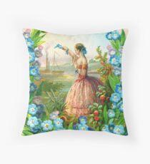 Victorian album sheet 1860 Throw Pillow