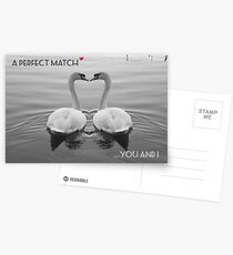 """SOLD""     A PERFECT MATCH - YOU AND I Postcards"