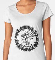 Mesoamerica - calendar bw Women's Premium T-Shirt