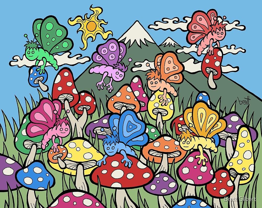 Mushroom Butterflies by Brett Gilbert