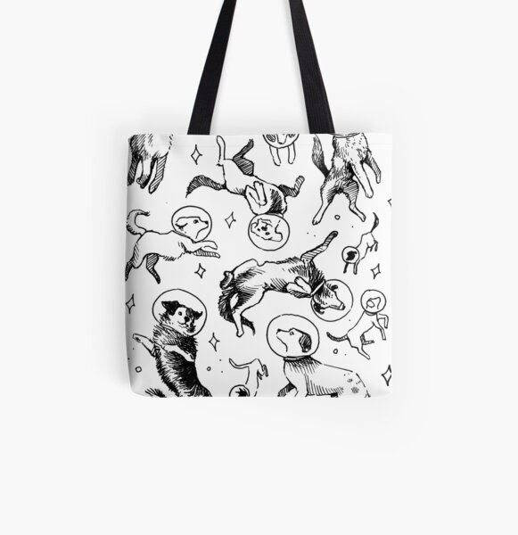 Space dogs All Over Print Tote Bag