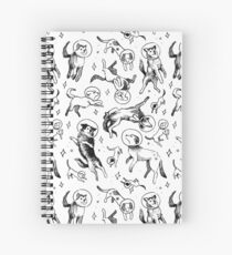 Space dogs Spiral Notebook