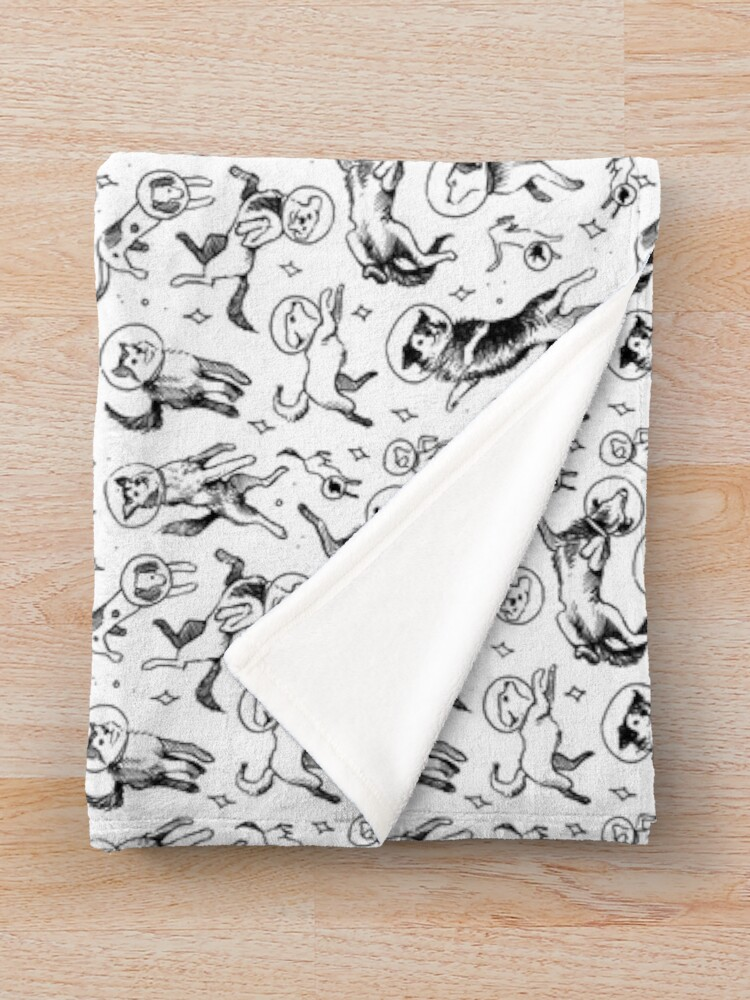 Alternate view of Space dogs Throw Blanket