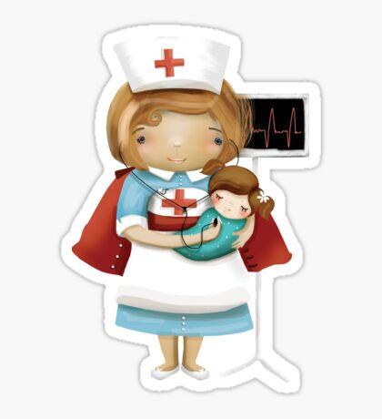 The Little Nurse Sticker