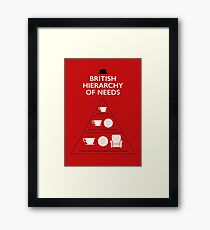 British Hierarchy of needs Framed Print