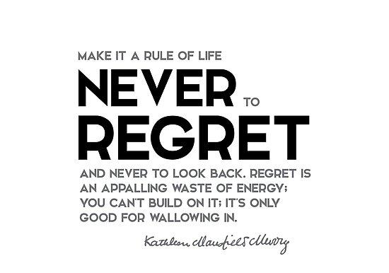 never regret - katherine mansfield by razvandrc