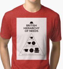 British Hierarchy of needs - White Tri-blend T-Shirt