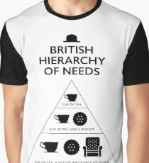 British Hierarchy of needs - White Graphic T-Shirt