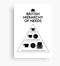 British Hierarchy of needs - White Canvas Print