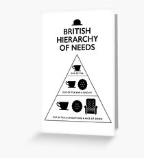British Hierarchy of needs - White Greeting Card