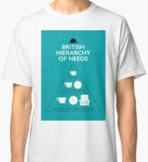 British Hierarchy of Needs - Blue Classic T-Shirt