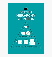 British Hierarchy of Needs - Blue Photographic Print
