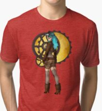 Steampunk Pinup Tri-blend T-Shirt