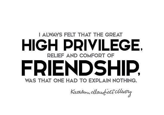 high privilege, friendship - katherine mansfield by razvandrc