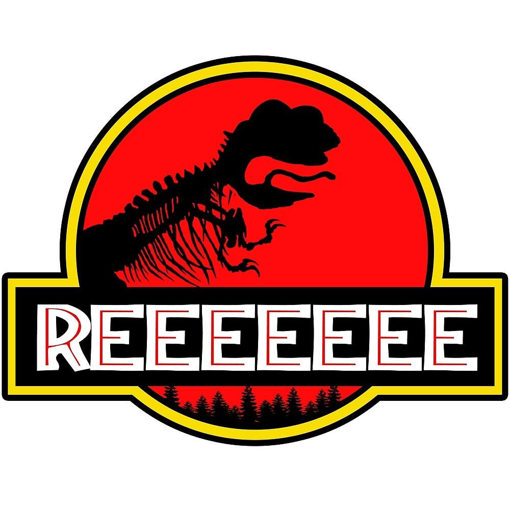 Jurassic Reeeeee Pepe Frog Park Parody Design by ThatMerchStore