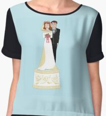 A Wedding Cake Topper Women's Chiffon Top