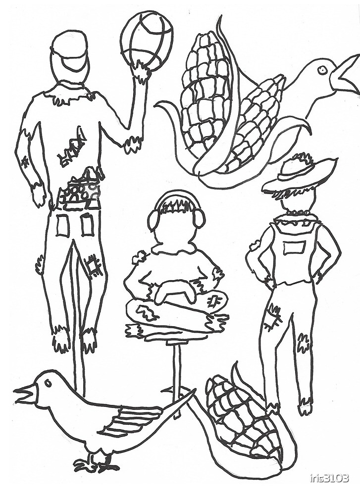 Color Me Scarecrow Family by iris3103