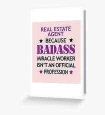 Real estate agent greeting cards redbubble real estate agent surprise birthday badass miracle worker greeting card m4hsunfo