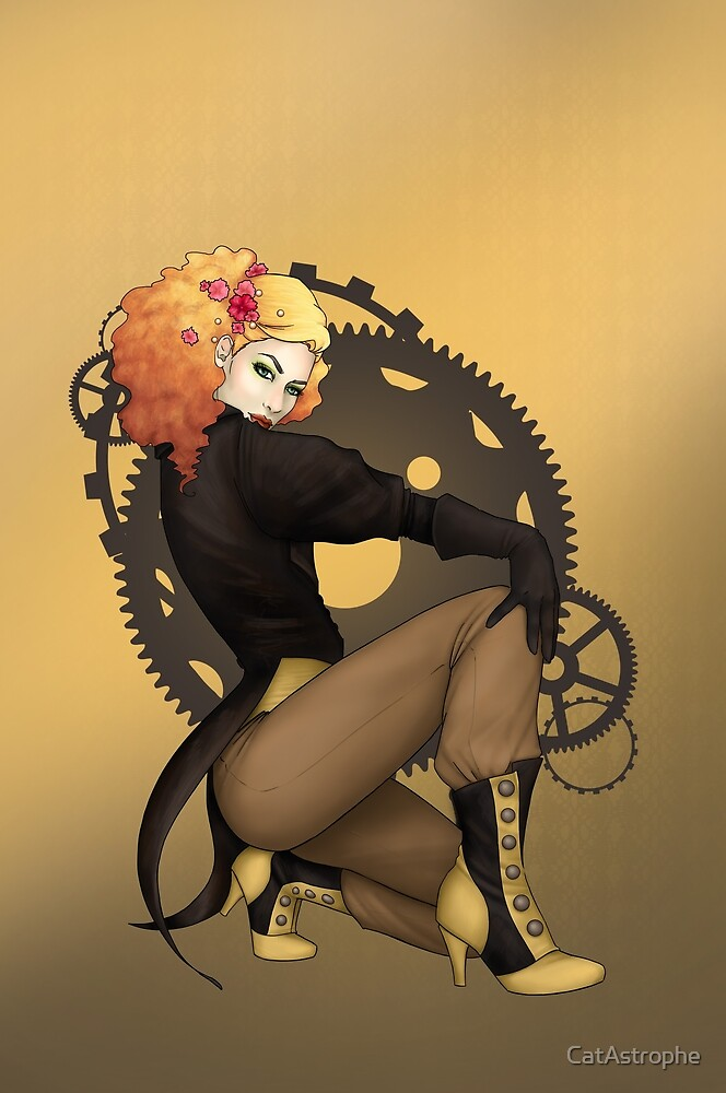 Steampunk Pirate Pinup Poster by CatAstrophe