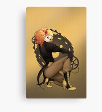 Steampunk Pirate Pinup Poster Canvas Print